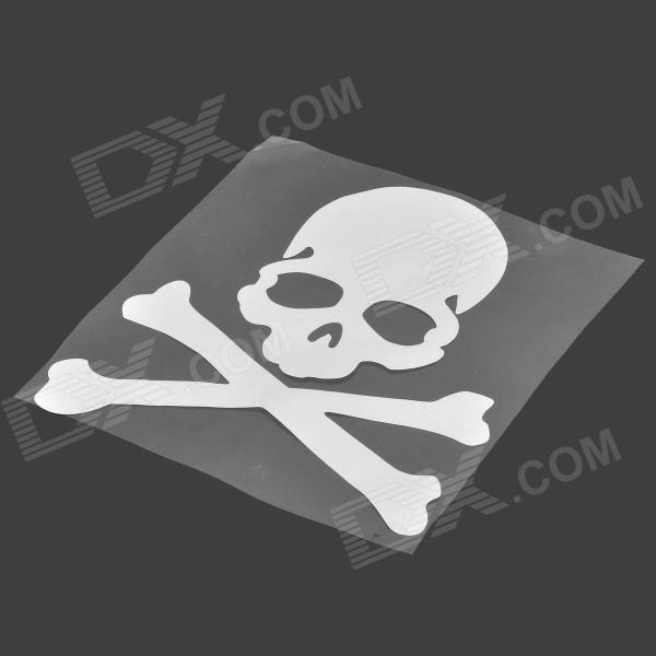 N-562 Skull Style Reflective Car Sticker Paper - Silver