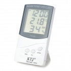 "TA368 2.8"" LCD Temperature / Humidity Meter Thermometer - Dark Grey + White (1 x AAA)"
