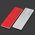 Universal PMMA + ABS  Car Reflective Sign Sticker - White + Red (2 PCS)