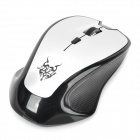 JieTe 2.4GHz Wireless 1000/1600DPI Optical Mouse - Black + Silver