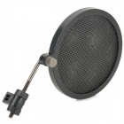 PS-2 Double Layer Professionelles Mikrofon Plastic Pop-Filter - Schwarz