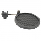 PS-2 Double Layer Professional Microphone Plastic Pop Filter - Black
