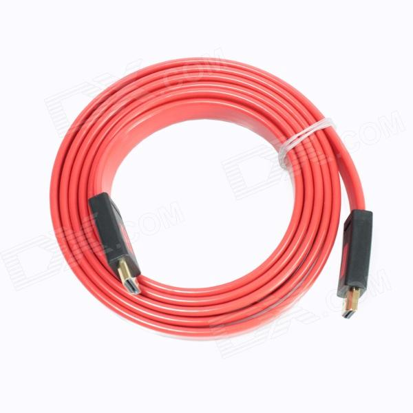ULT-unite 4012-1440 Gold-plated 2K x 4K High Definition HDMI V1.4 Male to Male Cable - Red (200cm) hdmi v1 4 male to male 1080p high definition cable black white red 500cm