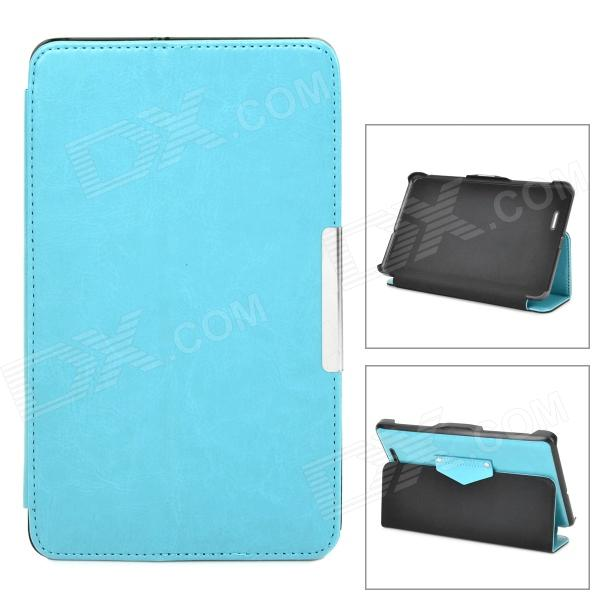 Protective PU Leather Case w/ Auto Sleep for Asus ME172 - Light Blue