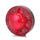 TYX-880 2-Mode Red Light 1-LED Auto-Alarmlampe / Camping Light - Dark Red + Black (4 x AA-Batterie)