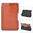 Protective PU Leather Case w/ Auto Sleep for Asus ME172 - Brown