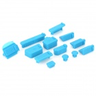 Universal Laptop Silicone Anti-Dust Plugs - Blue (13 PCS)