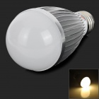 ZHISHUNJIA DB-CE718-9W E27 9W 540lm 3000K 18-5630 LED Warm White Light Bulb - Silver + White