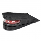 Double Layer Height Increasing Insoles - Black + Red