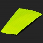 Car Body Reflective Decoration Sticker - Yellow (8 PCS)