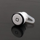 PANNOVO HD-05 Mini Rechargeable Bluetooth v3.0 + EDR Hands Free Headset Earbud - White + Black
