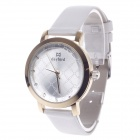 DayBird 3818 Fashionable Women's Analog Quartz Wrist Watch - White + Golden (1 x LR626)