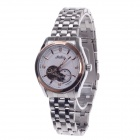 Haibo 6357 Fashionable Men's Automatic Wristwatch - Silver + Golden + White