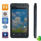 "WOOL w10 MTK6572 Dual-core Android 4.2.2 WCDMA Bar Phone w/ 4.0"" Screen, Wi-Fi, FM and GPS - Black"