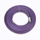 ULT-unite 8801-1130 HDMI V1.4 Male to Male Digital Audio / Video Flat Cable - Purple (15m)