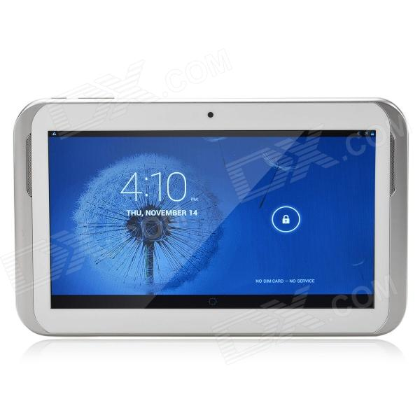 CY-9009 9.0 Android 4.2 Dual Core 3G Tablet PC w/ 512MB RAM, 4GB ROM, Camera, GPS - White + Silver 2018 new 10 inch tablet pc octa core 4gb ram 64gb rom dual sim cards 3g wcdma android 7 0 gps tablet pc 10 10 1 gifts