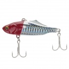 Lifelike Plastic Fish Style Fishing Bait w/ Hook - Silver + Red
