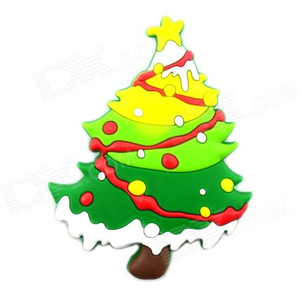 4.7 x 5.9cm Creative Christmas Tree Style Fridge Magnet - Multicolored