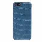 SAYOO 2399 Crocodile Striation Protective PU Leather Back Case for Iphone 5 - Blue