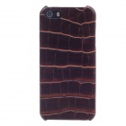 SAYOO 2214 Crocodile Striation Schutz PU-Leder Tasche für iPhone 5 - Deep Brown