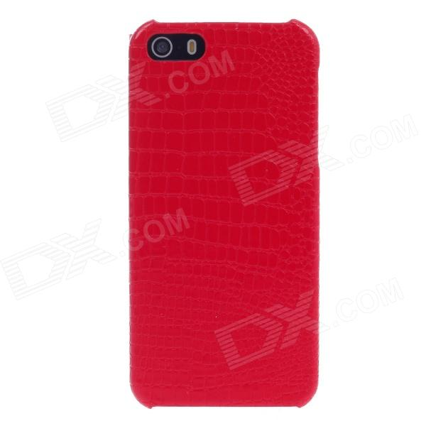 SAYOO 2390 Crocodile Striation étui de protection en cuir PU pour Iphone 5 - Rouge