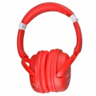 Kubite K-892 Digital Music Stereo Headphone w/ Micro SD Card Slot / FM - Red + White