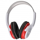 Kubite K-896 Bluetooth V2.1 + EDR Stereo Headset w/ Microphone - White + Red