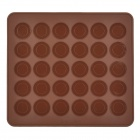 30-Component Round Shape Cake Chocolate Tray Module - Coffee