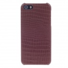 SAYOO 2392 Crocodile Striation Protective PU Leather Back Case for iPhone 5 - Brown