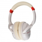 Kubite K-892 Digital Music Stereo Headphone w/ Micro SD Card Slot / FM - White + Red