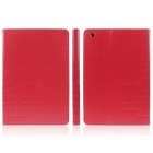 ENKAY ENK-3342 PU Leather Case Stand w/ Auto Sleep Cover / Card Slot for Retina Ipad MINI - Red