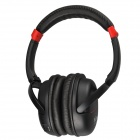 Kubite K-892 Digital Music Stereo Headphone w/ Micro SD Card Slot / FM - Black + Red