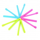 Plastic Bag Seal Clips Set - Blue + Deep Pink + Green (6 PCS)