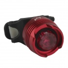 SingFire S000R6 1-LED 3-Mode Red Safety Rear Tail Light - Red + Black (2 x CR2032)