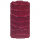 SAYOO 2281 Crocodile Pattern Vertical Open Protective PU Leather Case Cover for Iphone 4S - Red