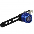 SingFire S000B6 1-LED 3-Mode Blue Safety Rear Light - Blue + Black (2 x CR2032)
