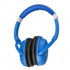Kubite K-892 Digital Music Stereo Headphone w/ Micro SD Card Slot / FM - White + Blue