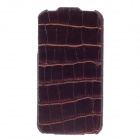 SAYOO 2282 Crocodile Pattern Vertical Open Protective PU Leather Case Cover for Iphone 4S - Brown