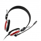 OVLENG X3 Headphones Headset w/ Mic for Computer - Black + Red + Silver (3.5mm Plug / 1.75m-Cable)
