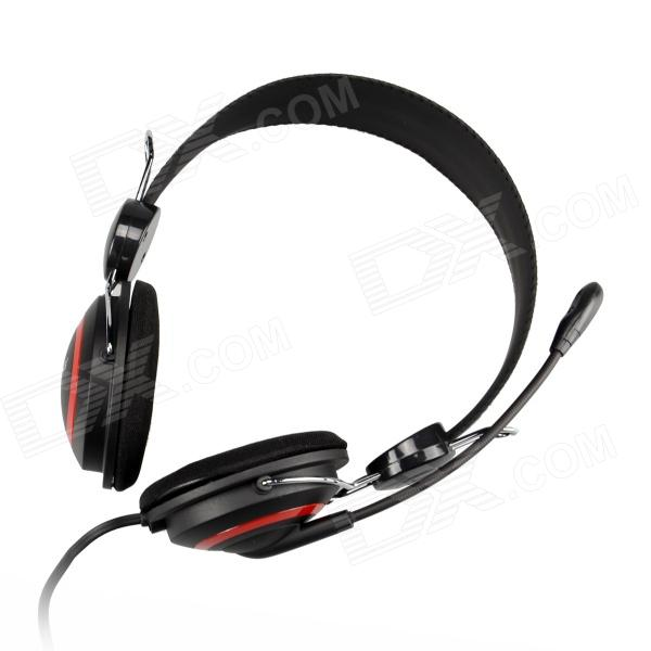 все цены на OVLENG V1 Headphones Headset w/ Microphone for Computer - Black + Red (3.5mm Plug / 180cm-Cable)