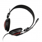 OVLENG V1 Headphones Headset w/ Microphone for Computer - Black + Red (3.5mm Plug / 180cm-Cable)