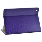 Stylish Protective PU Leather Case Cover Stand for Ipad AIR - Purple