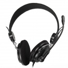 OVLENG V4 Headphones Headset w/ Microphone for Computer - Black (3.5mm Plug / 175cm-Cable)