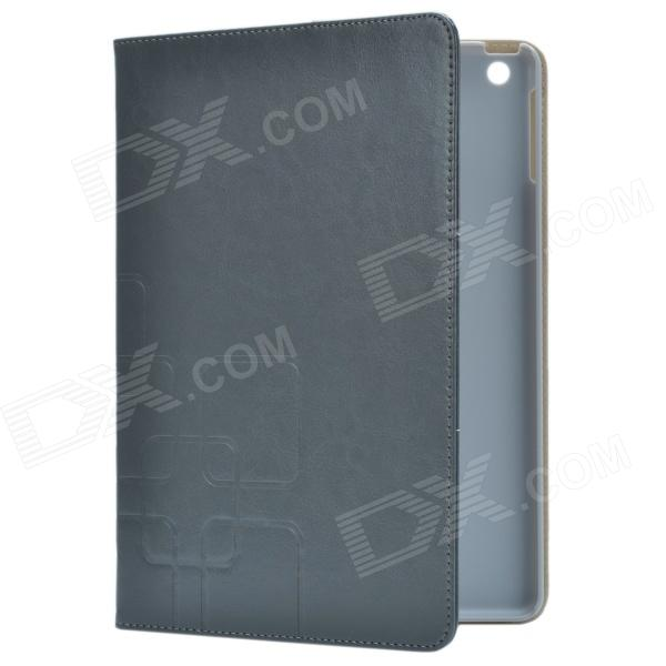 Stylish Protective PU Leather Case Cover Stand for Ipad AIR - Black Grey