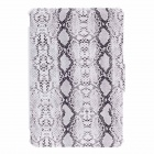 SAYOO 2263 Snakeskin Striation Protective PU Leather Case Cover Stand for Ipad MINI - White + Black