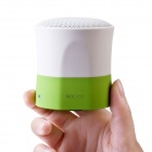 MOCREO MINI Ultra-Portable Wireless Bluetooth V3.0 Speaker w/ Microphone - Green + White
