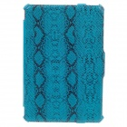 SAYOO 2266 Snakeskin Striation Protective PU Leather Case Cover Stand for Ipad MINI - Blue