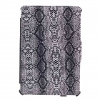 SAYOO 2262 Snakeskin Striation Protective PU Leather Case Cover Stand for Ipad MINI - Black + White