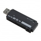 ETOP-U3-02 Super Speed USB 3.0 Micro SD / TF / SD / MS / M2 Card Reader - Black (Max. 64GB)