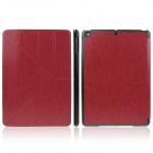 ENKAY ENK-3146 Protective PU Leather Case Stand w/ Auto-Sleep Cover for Ipad AIR - Red + Black